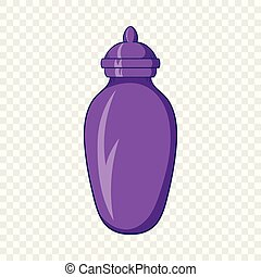 Urn for ashes icon, cartoon style