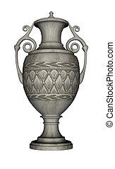 urne, -, render, 3d