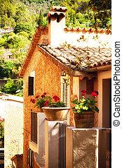 uroczy, dom, w, deia, wieś, w, mallorca, hiszpania