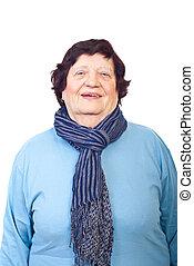 uroczy, starsza kobieta