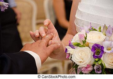 uroczysty, ceremonia, chwila