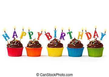 urodziny, cupcakes