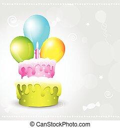 urodziny, ilustracja, tło