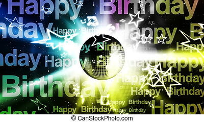 urodziny, muzyka, tło, szczęśliwy
