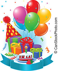 urodziny, ozdoba, dary