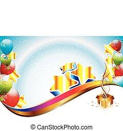 urodziny, szablon, partia