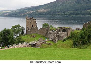 Urquhart Castle, Scotland - Urquhart Castle, on the Loch...