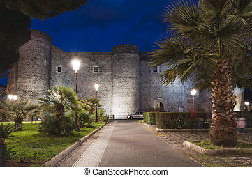 Ursino castle in Catania Sicily Italy built in 13th century