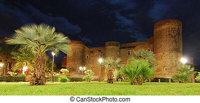 Ursino Castle in Catania, Sicily - The Ursino Castle with...
