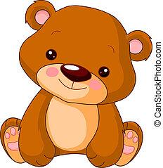 urso, divertimento, zoo.