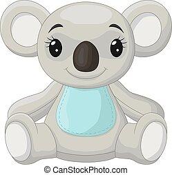 urso, koala, cute, sentando, pequeno