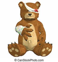 urso, magoado