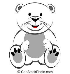urso polar, pelúcia