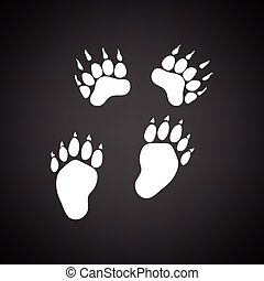 urso, rastros, ícone