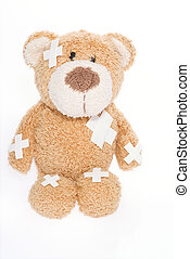urso teddy, em, hospitalar