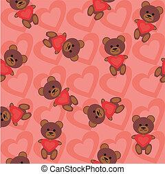 ursos, fundo, seamless