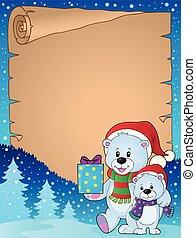 ursos, pergaminho, natal