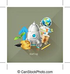 uruchomienie, projekt, handlowy