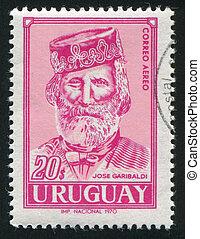 Giuseppe Garibaldi - URUGUAY - CIRCA 1970: stamp printed by ...