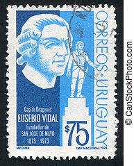San Jose de Mayo by Eusebio Vidal - URUGUAY - CIRCA 1974:...