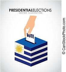Uruguay design over white background, vector illustration