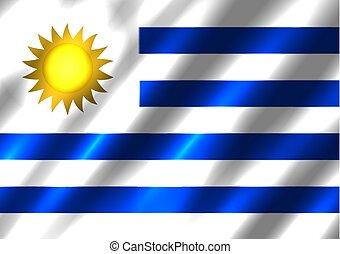Uruguay flag background. Country standard banner backdrop