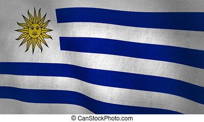 Uruguay Flag Background (Loop-able) - Uruguay Flag...