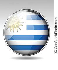 Uruguay flag button