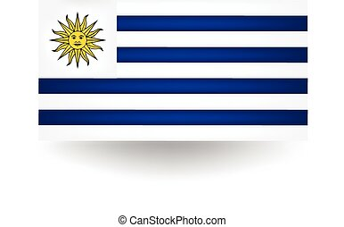 Uruguay Flag - Official flag of Uruguay.