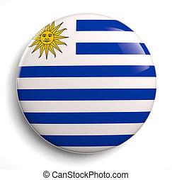 Uruguay flag symbol - Uruguay flag icon isolated on white.