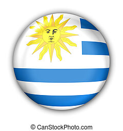 Uruguay Flag - World Flag Button Series - South America - ...