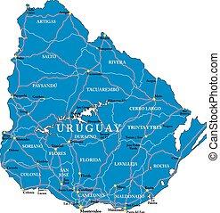 Uruguay map