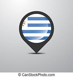 Uruguay Map Pin