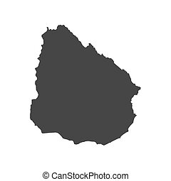 Uruguay map silhouette
