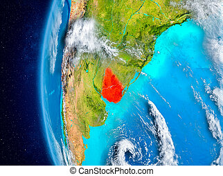 Uruguay on Earth from space
