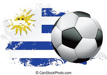 Uruguay Soccer Grunge Design