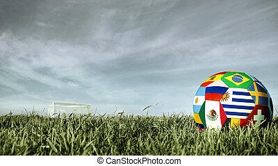 Uruguay team soccer ball for russia sport event