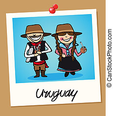 Uruguay travel polaroid people - Uruguayan man and woman ...