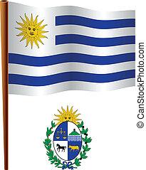 uruguay wavy flag
