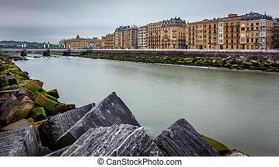 Urumea river in Donostia San Sebastian