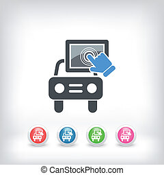 urządzenie, wóz, touchscreen