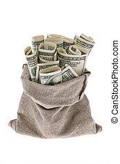 u.。s.。, ビルズ, ドル, 袋