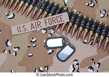 US AIR FORCE concept on camouflage uniform