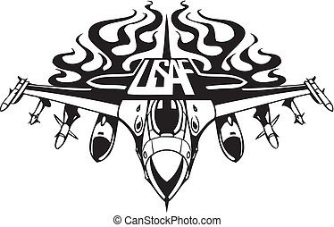 US Air Force - Military Design. Vinyl-ready vector ...