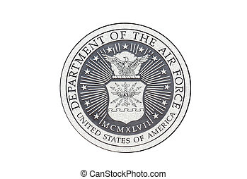 U.S. Air Force official seal on a white background.