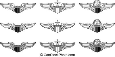 Wings Clipart Aviator - Pilot Wings Insignia - Free Transparent PNG Clipart  Images Download