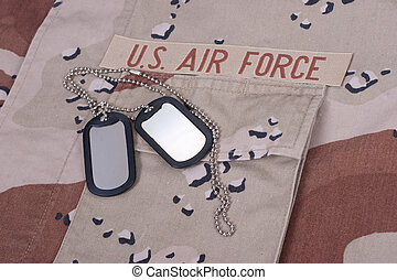 us air force uniform with dog tags