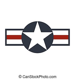 U.S. Army air force sign logo. Vector