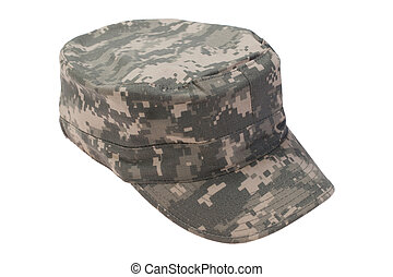 us army cap on a white background