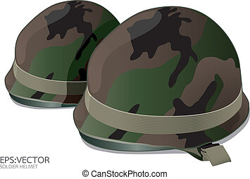 US Army helmet on white background vector